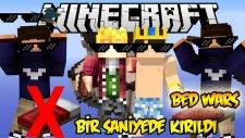 1 SANİYEDE YATAK KIRILDI! - Bed Wars - Minecraft Yatak Savaşları w/Wolvoroth,İbrahim