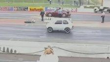 Fiat 126 Bis Porsche 911 Turbo ile Yarışıyor