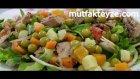 garnitürlü yeşil salata tarifi