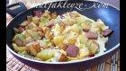 patatesli biberli sucuklu yumurta tarifi