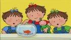 Üçüzler Çizgi Filmi Akvaryumda Balık Bakıyorlar