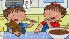 Üçüzler Çizgi Filmi Çikolatalı Kek Yapmayı Öğreniyorlar