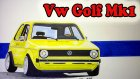Volkswagen Golf Mk1 Çizimi (speed drawing)