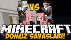 Minecraft DOMUZ SAVAŞLARI !! #2 - AHMETLE YİNE BİR ÇEKİŞMELİ SAVAŞ! - w/Ahmet Aga