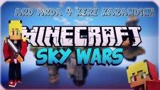 (ARD ARDA 4 KERE KAZANDIM!) Minecraft - Gökyüzü Savaşları! (Sky Wars)