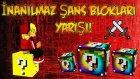 Türkçe - Minecraft : İNANILMAZ ŞANS BLOKLARI YARIŞI! (Spiral Lucky Block)