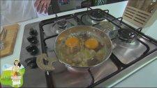 Nohutlu Kavurmalı Yumurta