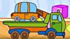 Çizgi film - Oyuncaklar - Çekici ve küçük araba