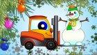 Çizgi film - Yılbaşı ağacı ve kardan adam