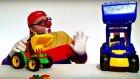 Çocuklar için eğlenceli film - Palyaço Dima - Ekskavatörlerin güç yarışı
