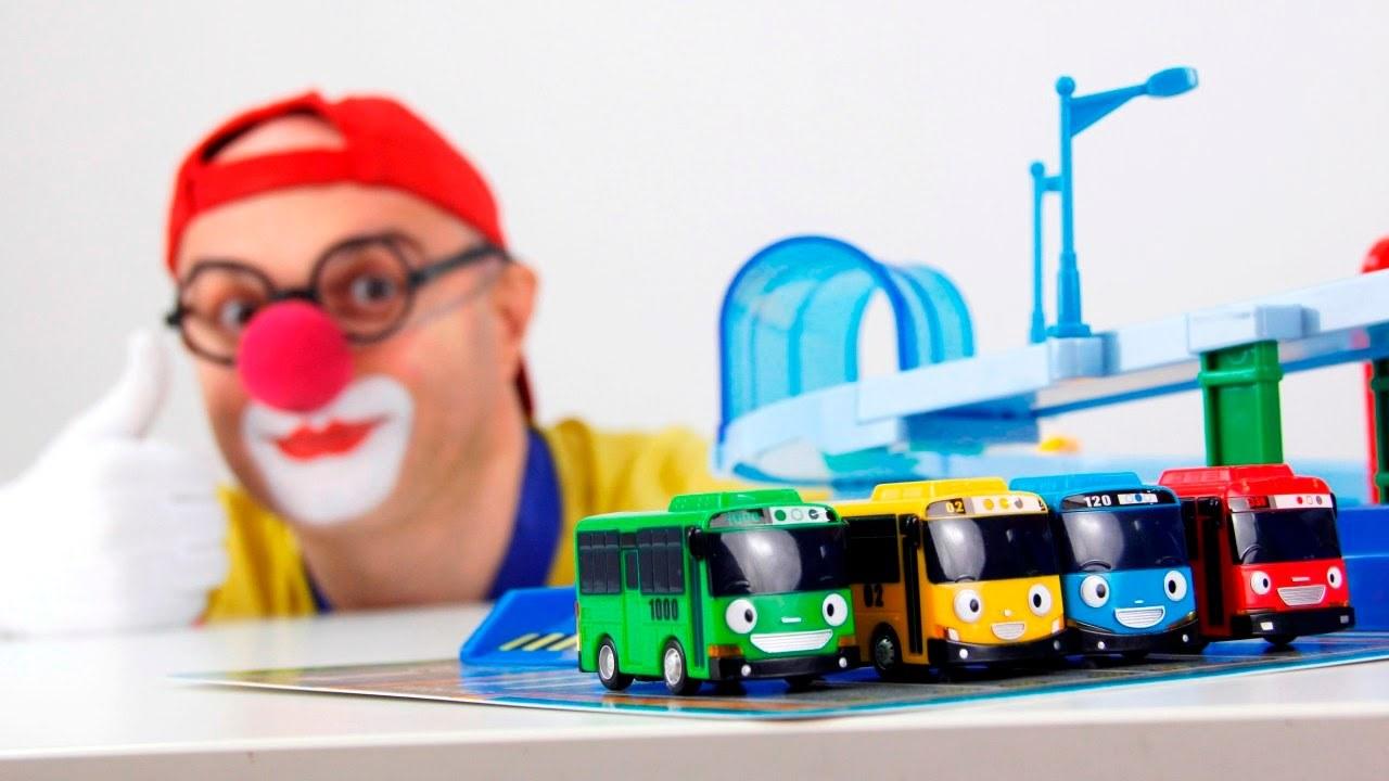 Çocuklar için eğlenceli film - Palyaço Dima - Otobüs Tayo