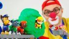Çocuklar için eğlenceli film - Palyaço Dima ve Paw Patrol oyuncakları