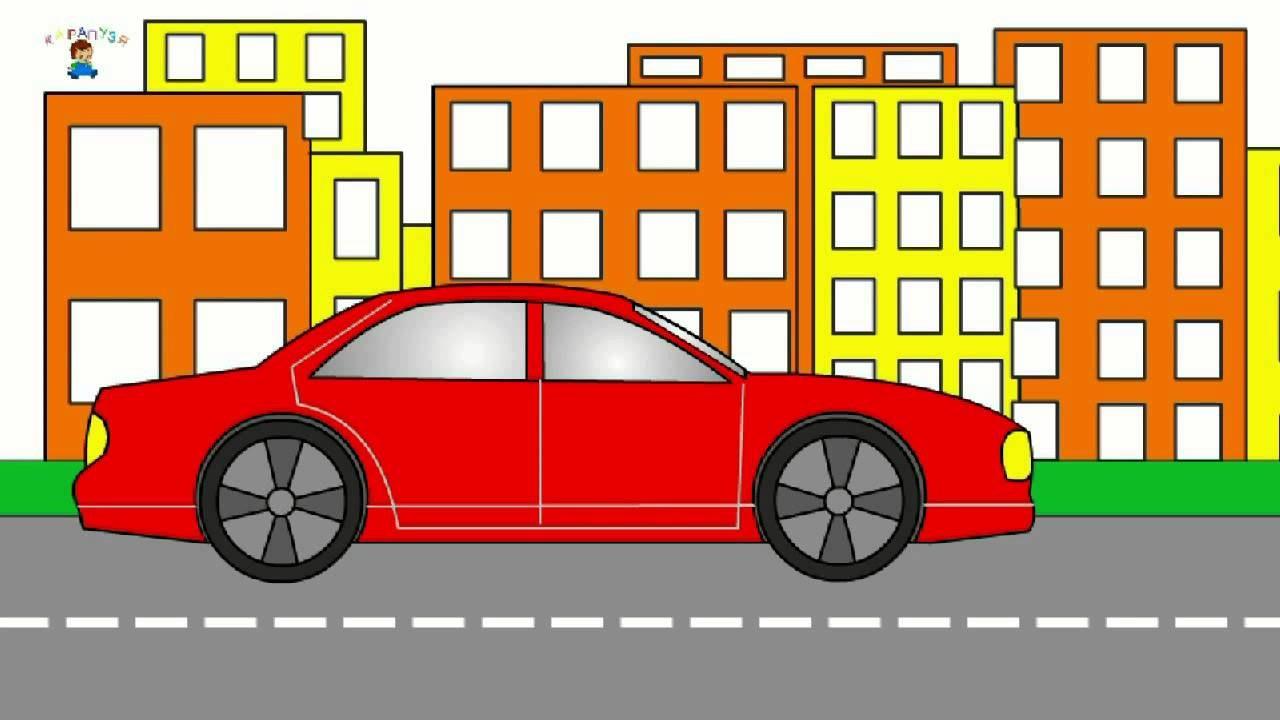 Eğitici çizgi Film Boyama Kitabı Araba