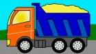 Eğitici çizgi film - Boyama kitabı - İş arabaları