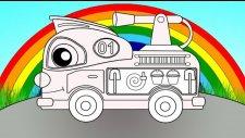 Eğitici çizgi film - Sihirli gök kuşağı - Renkler - İtfaiye arabası