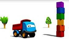 Meraklı kamyon Leo ve yapı taşları - eğlenceli çizgi film