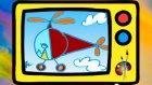 Resimler çizelim - Helikopter - Çocuklar için eğitici Çizgi film