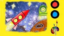 Resimler çizelim - Roket - Çocuklar için eğitici çizgi film