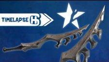 Black Rock Shooter Weapons Modeling Timelapse Blender |HG Animation|