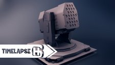 Sci-Fi 3D weapons modeling Timelapse X6 |HG Animation|