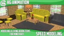 Minecraft Livingroom items SpeedModeling For Blender - Download | HG Animation |
