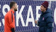 Trabzonspor'da barış havası! Şota ve Onur şakalaştı