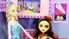 Ever After High Lizzie Hearts ve Karlar Ülkesi Elsa alışveriş merkezinde buluşuyor - Evcilik TV