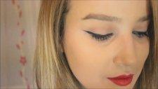 Kırmızı Ruj & Eyeliner Makyajı | Merve SEVİL