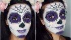 Cadılar Bayramı Sugar Skull Makyajı