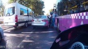 Yol Verme Kavgası, Otobüs Şoförüne Saldırı Anı
