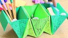 Ofiste Kolaylıkla Yapabileceğiniz Origami Akordeon Kalemlik