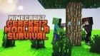 Minecraft: Gereksiz Modlar'la Survival - Bölüm 3 - Hava evi temel'i başarılı :D