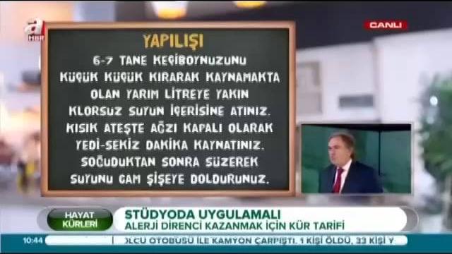 Ibrahim Saraçoğlu Alerjiye Direnç Kazanmak Için Kür Izlesenecom