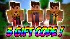 3 Adet Minecraft Gift Code Hediye !