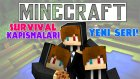 HEYECAN DOLU BİR SERİ! - Survival Kapışmaları(PvP) - Minecraft #1