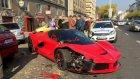 Milyon Dolarlık Ferrari'sini Alır Almaz Kaza Yaptı