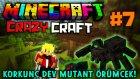 Minecraft - Çılgın Modlarla Survival! (Crazy Craft) - KORKUNÇ DEV MUTANT ÖRÜMCEK!! : Bölüm 7