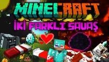 İKİ FARKLI SAVAŞ! - Minecraft Yumurta & Yatak Savaşları