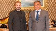 Tataristan Cumhurbaşkanı Gökdeniz Karadeniz'i kabul etti