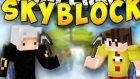 Minecraft : SkyBlock -Bölüm#1-''Adamıza Alışveriş Yaptık''