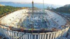Vodafone Arena'nın son hali ve çatısı havadan böyle görüntülendi