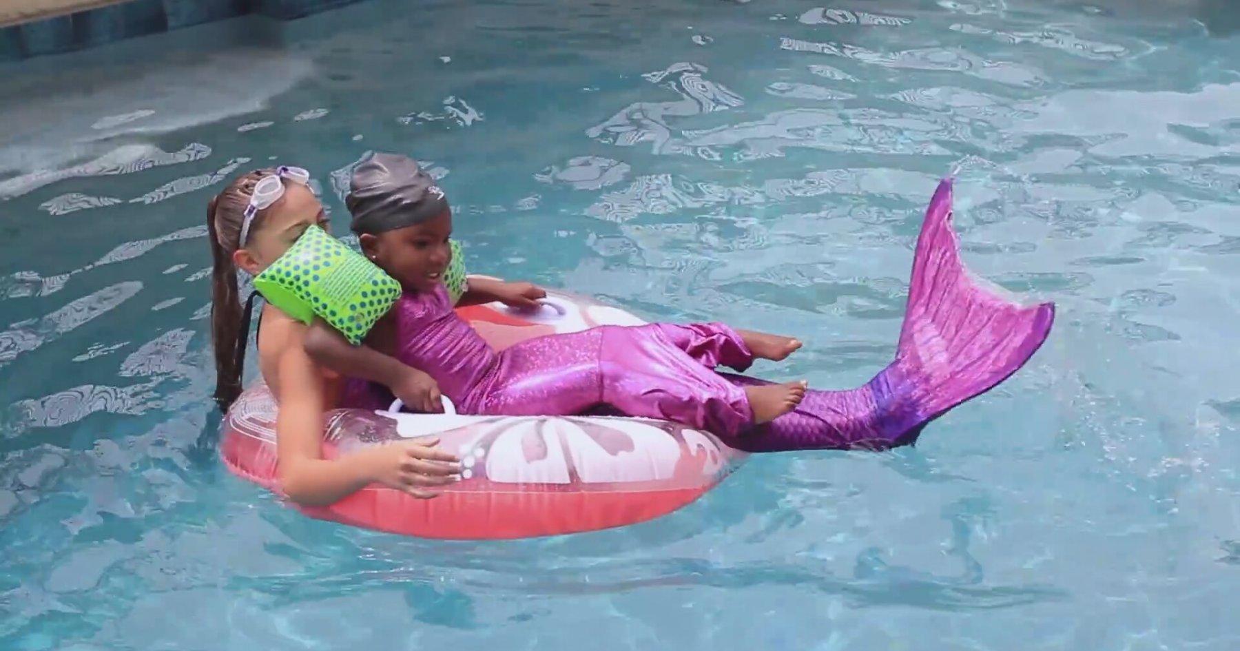 Live Mermaids Swimming N Our Pool