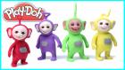 Play Doh Oyun Hamuru ile Teletabiler Yapımı | Tinky Winky Laa-laa Poo Dipsy Çizgi Film Karakterleri