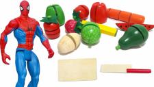 Örümcek Adam Mutfakta | Örümcek adam (Spiderman) akşam yemeği için sebze ve meyveleri doğruyor