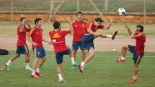Morata'dan antrenmanda şık vole golü