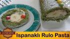 Ispanaklı Rulo Pasta Tarifi | Ispanaklı Yaş Pasta