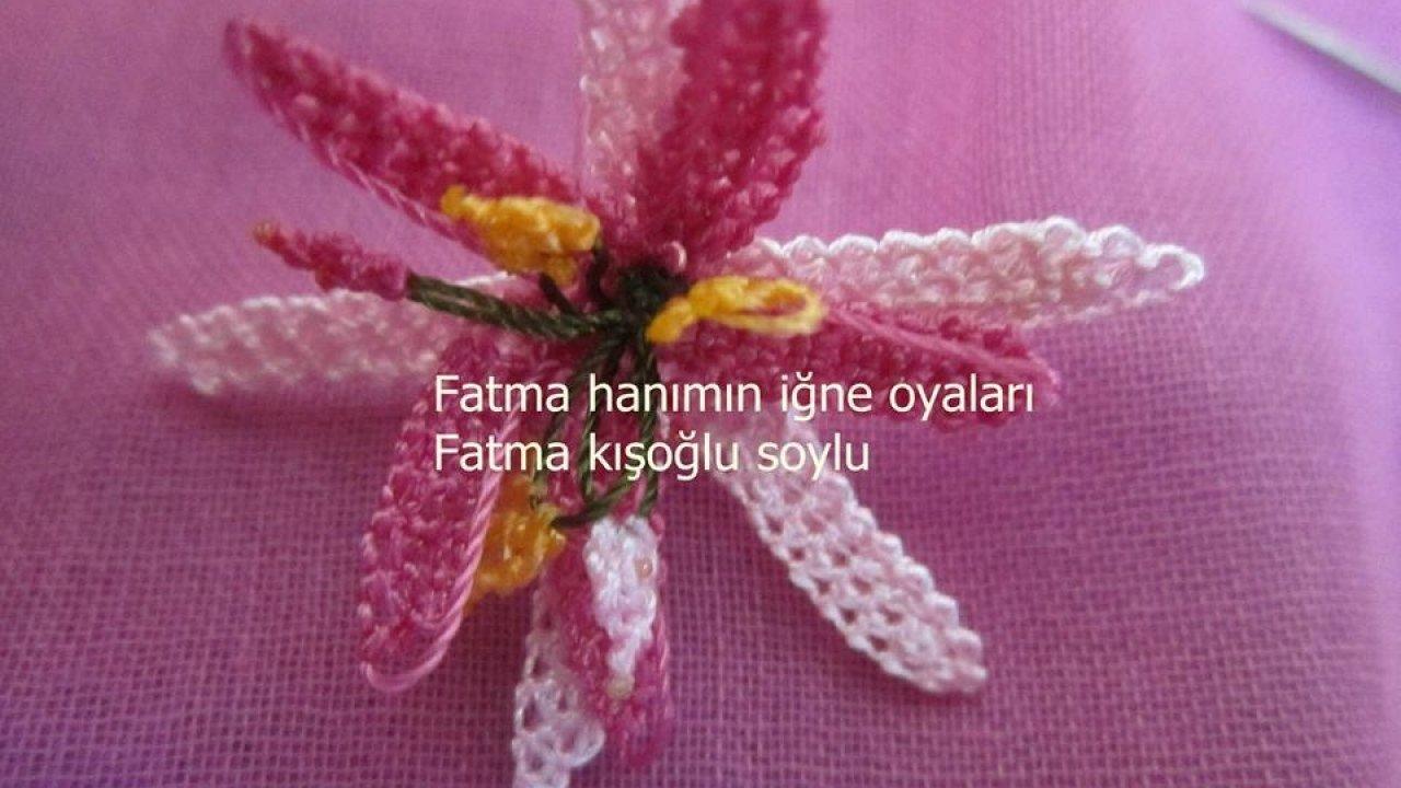 İğne Oyası Muhteşem Çiçek Modeli Yapımı Türkçe Videolu
