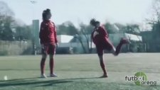 Bayern'li kadın futbolcu şov yaptı