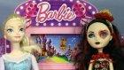 Karlar Kraliçesi Elsa Ve Monster High Lizzie Hearts'ın Sinema Keyfi - Evcilik TV