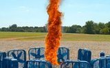 Ağır Çekimle Ateş Hortumunun Oluması  2500 FPS